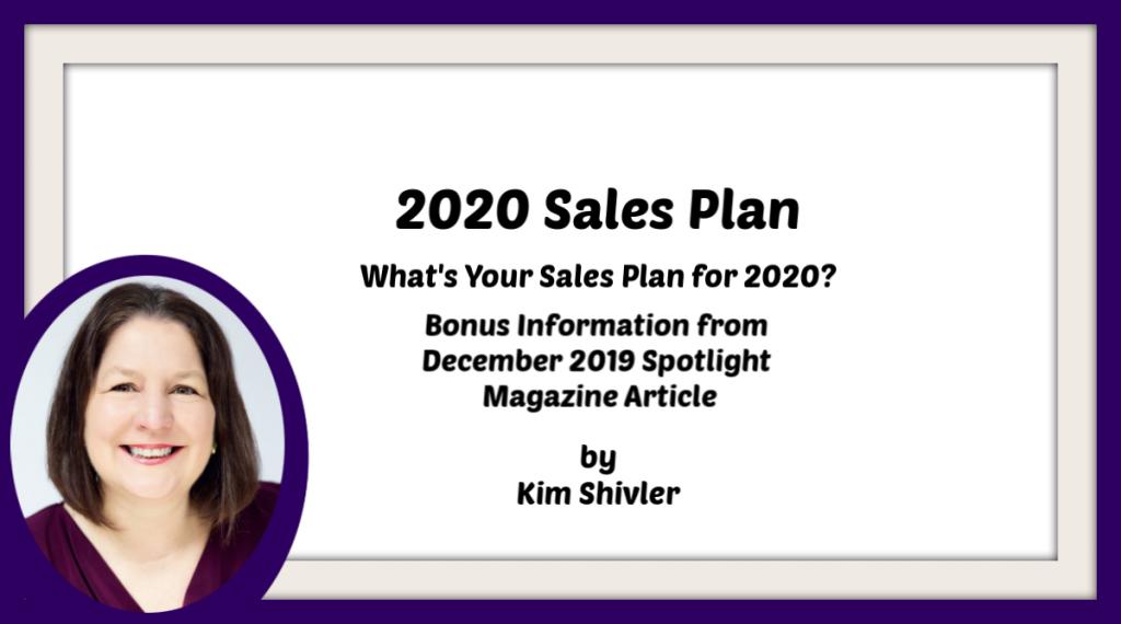 Title slide for 2020 Sales Plan Video